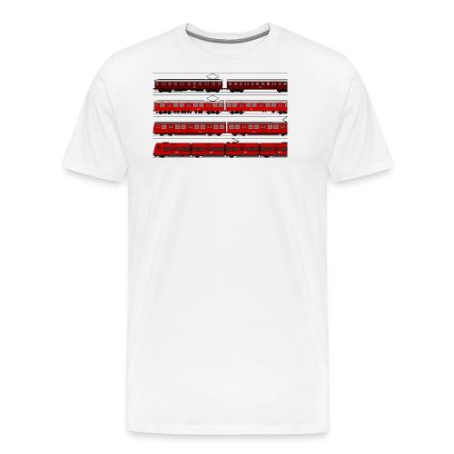 DSB S toghistorie - Herre premium T-shirt
