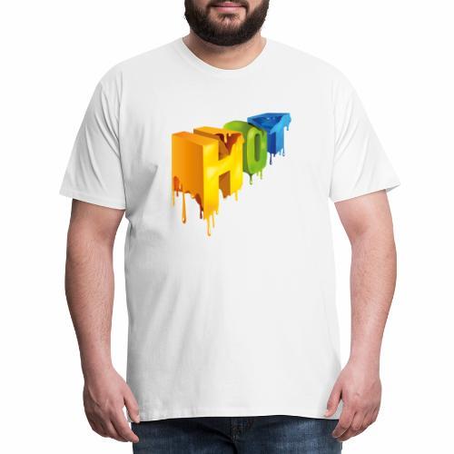 Hot lettering - Camiseta premium hombre