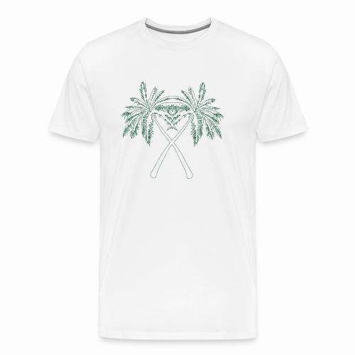 PALMX GREEN CONTOURS - Premium-T-shirt herr