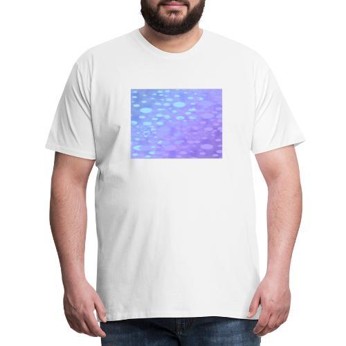 wassertropfen in der regenbogenpfütze - Männer Premium T-Shirt