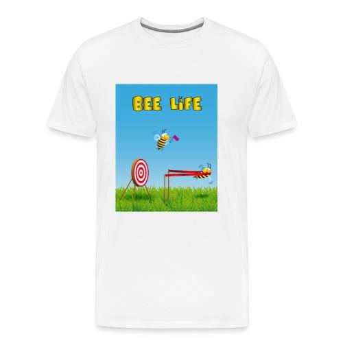 Ape sportiva al tiro al bersaglio - vita da ape - Maglietta Premium da uomo