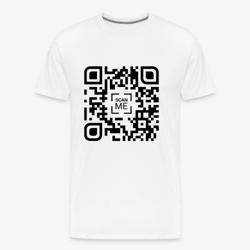 QR code (black) - Men's Premium T-Shirt