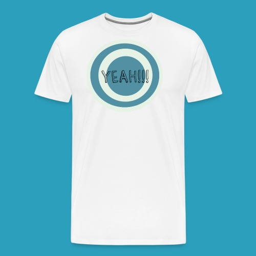 Yeah blauw png - Mannen Premium T-shirt