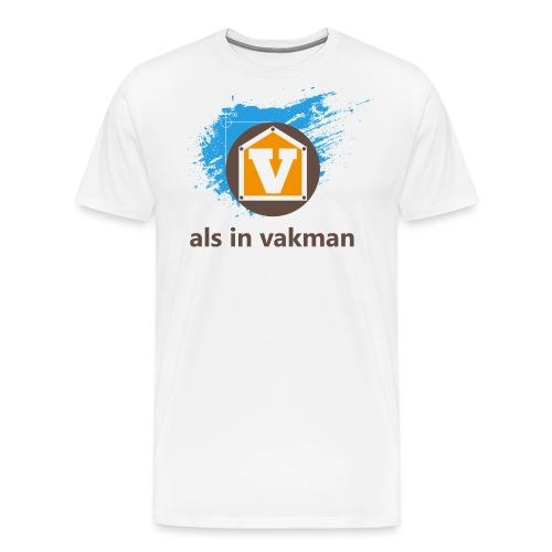 V als in Vakman - Mannen Premium T-shirt
