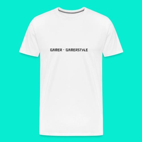 GAMERSTYLE | NICESCHRIFT Schwarz - Männer Premium T-Shirt