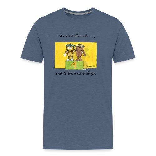 Janoschs 'Wir sind Freunde, und teilen ...' - Männer Premium T-Shirt