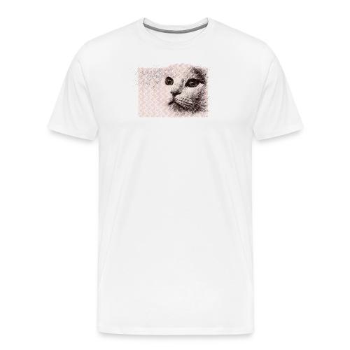 Katze mit Schwingungen - Männer Premium T-Shirt