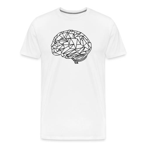 Geometrie Gehirn Mediziner - Männer Premium T-Shirt