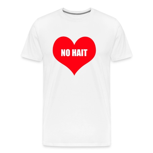 no HAIT heart - Premium-T-shirt herr
