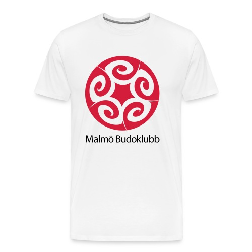 Malmö Budoklubb Logotype text red black - Premium-T-shirt herr