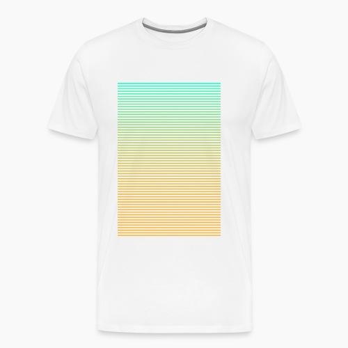 Gradient Stripes - Men's Premium T-Shirt