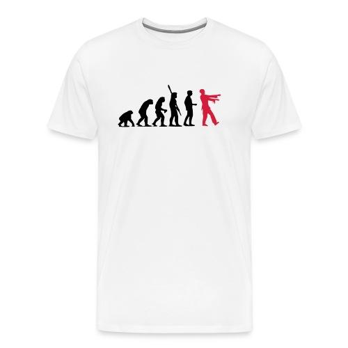 Zombie Evolution (zweifarbig) - Männer Premium T-Shirt