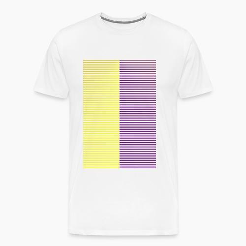 Yellow Purple Stripes - Men's Premium T-Shirt