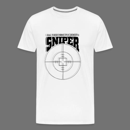 Sniper (musta) - Miesten premium t-paita
