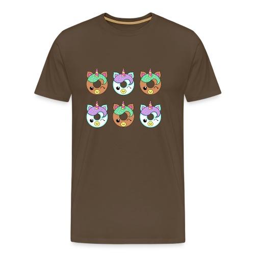 Unicorn Donut - Maglietta Premium da uomo