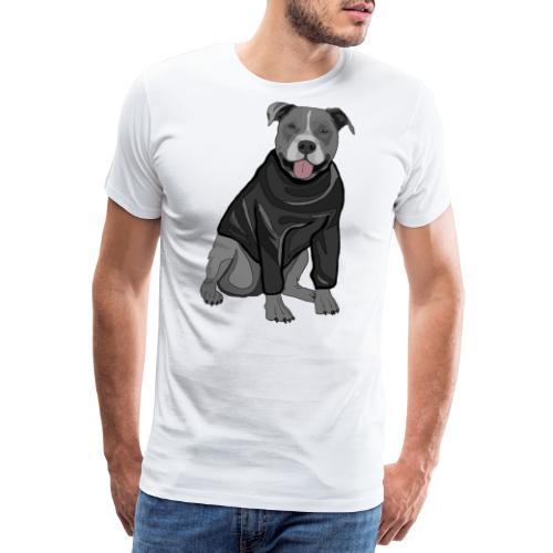 Süßer Hund Pullover Pulli Stafford Geschenk Idee - Männer Premium T-Shirt