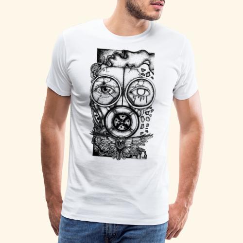 Gasmaske Gas Mask Toxic Weltende End of the world - Männer Premium T-Shirt