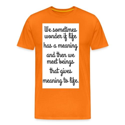 Phrase d'amour en anglais - T-shirt Premium Homme