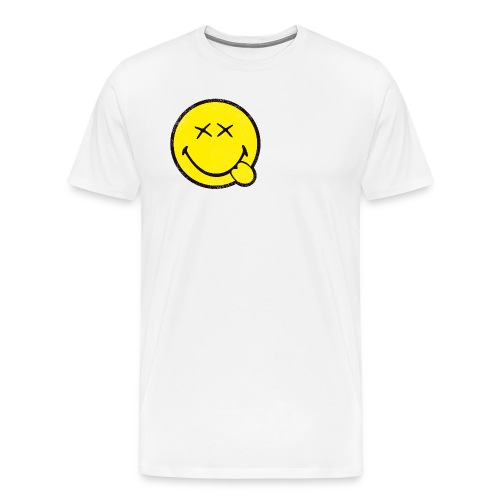 SmileyWorld Klassischer Smiley Used Look - Männer Premium T-Shirt