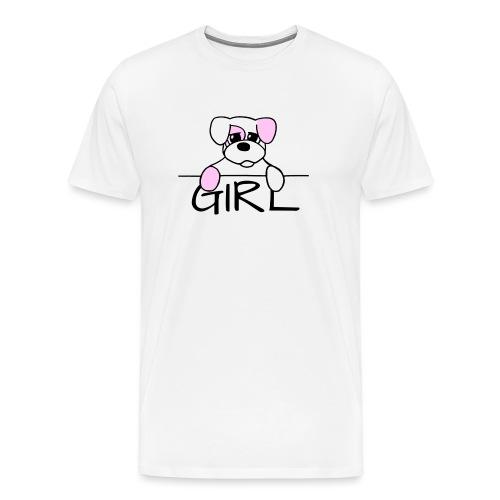 Hondje Girl - Mannen Premium T-shirt