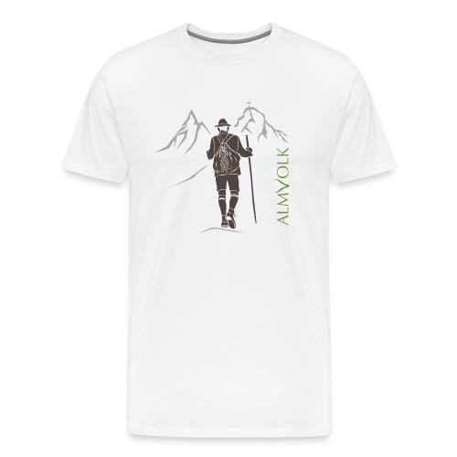 Herren-Shirt ALMVOLK Bergwanderer - Männer Premium T-Shirt