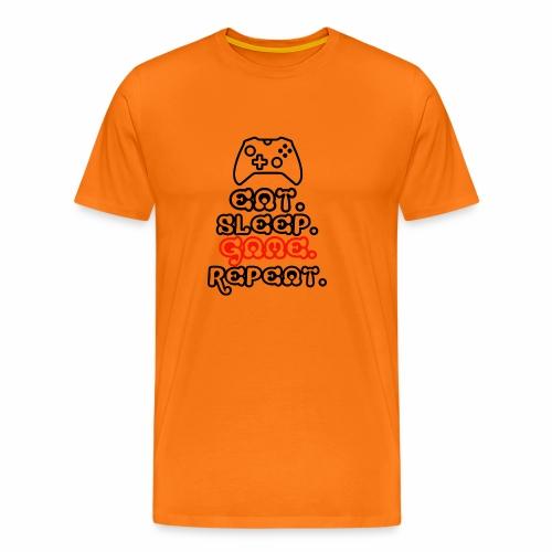 Eat. Sleep. Game. Repeat. - Männer Premium T-Shirt