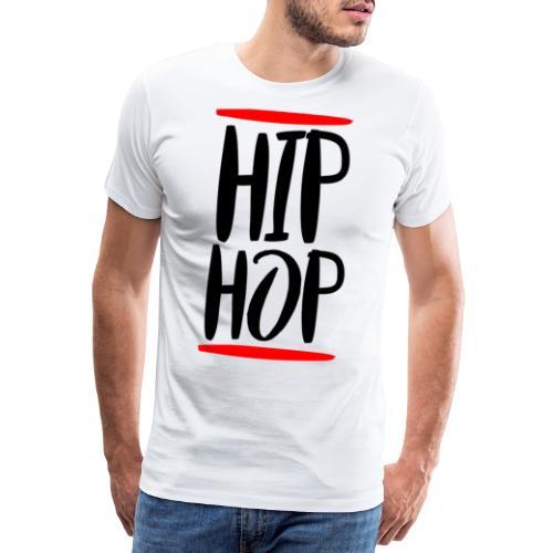 Hip-hopowa muzyka lat 90. oldschoolowa - Koszulka męska Premium