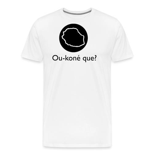 Logo Ou-koné que? - T-shirt Premium Homme