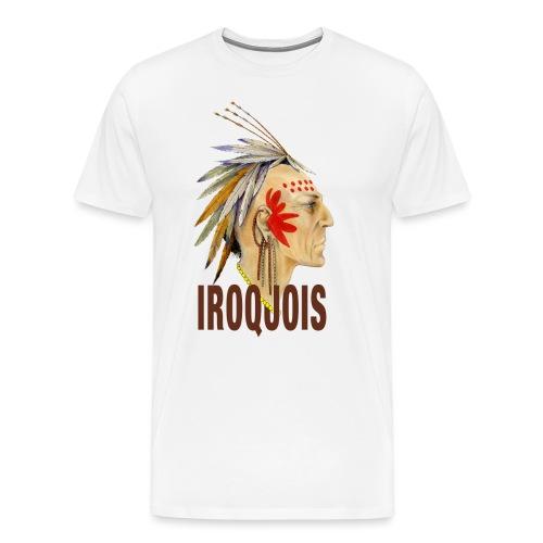 Portrait guerrier Iroquois - T-shirt Premium Homme