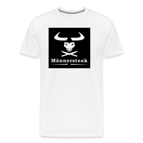 Männersteak schwarz weiss - Männer Premium T-Shirt