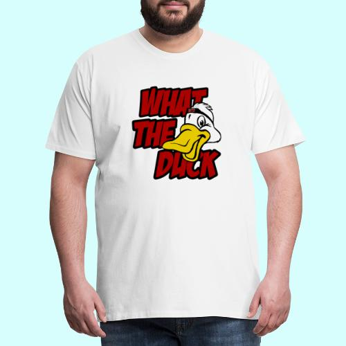 What the duck?! WTD Ente WTF - Männer Premium T-Shirt