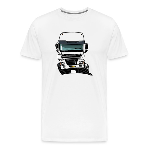 0810 D truck CF wit - Mannen Premium T-shirt