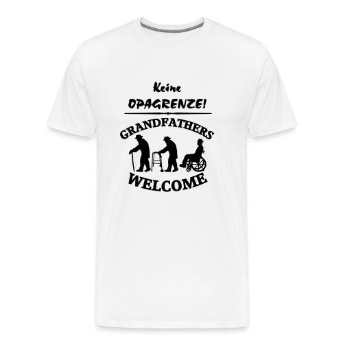 Opagrenze - Männer Premium T-Shirt