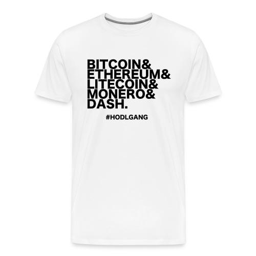 Bitcoin & Ethereum, cooles Crypto Design - Männer Premium T-Shirt