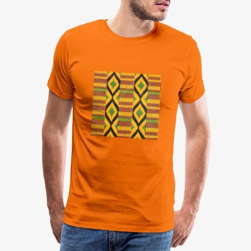 Motifs au losange coloré vert, jaune et noir - T-shirt Premium Homme