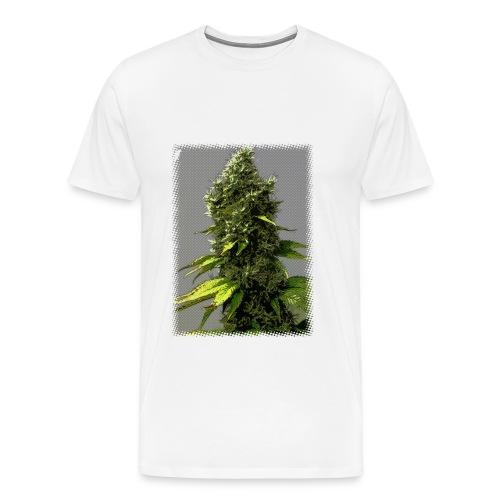 cartoon weed bud - Men's Premium T-Shirt