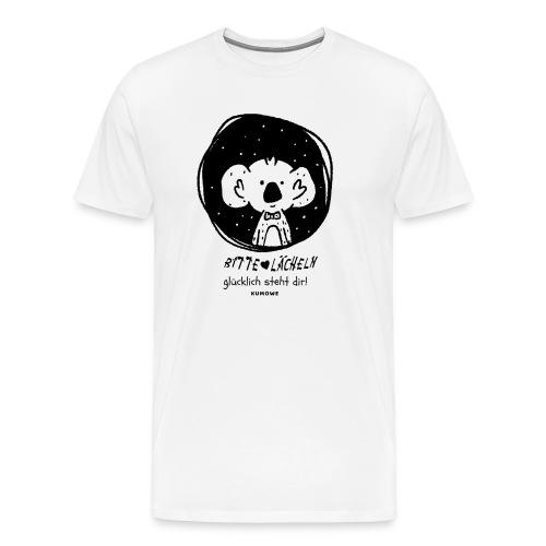 Bitte lächeln - glücklich steht dir! - Männer Premium T-Shirt