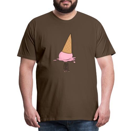 Gelato rosa caduto a terra - Maglietta Premium da uomo