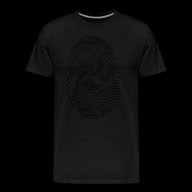Tintenfisch Fingerabdruck schwarz
