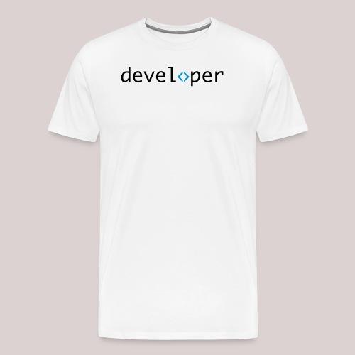 developer, coder, geek, hipster, nerd - Männer Premium T-Shirt