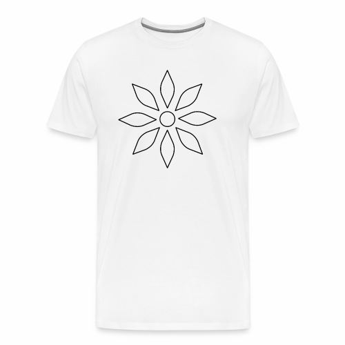 Kaleidoscope Sunflower - Black Edition - Männer Premium T-Shirt