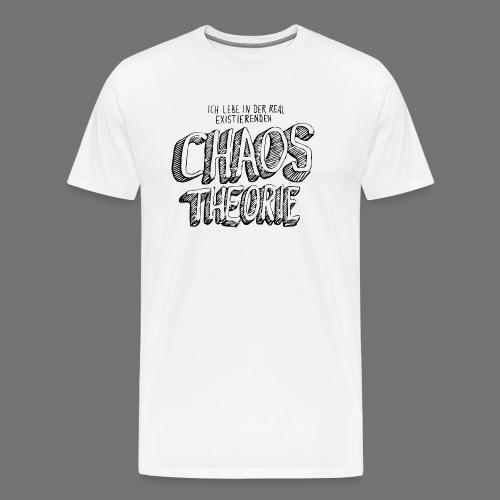 Chaos Theory (musta) - Miesten premium t-paita