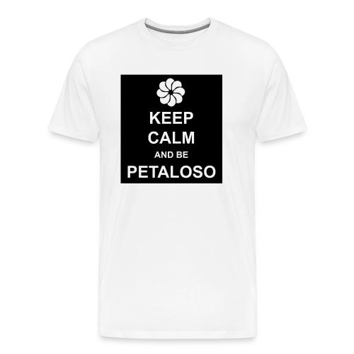NERA_MAGLIA_BIANCA_PETALOSO_a-png - Maglietta Premium da uomo