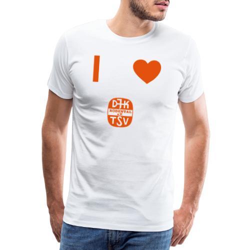 VORNE DJK HERZ - Männer Premium T-Shirt