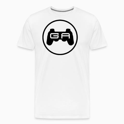Sort på Hvidt - Herre premium T-shirt