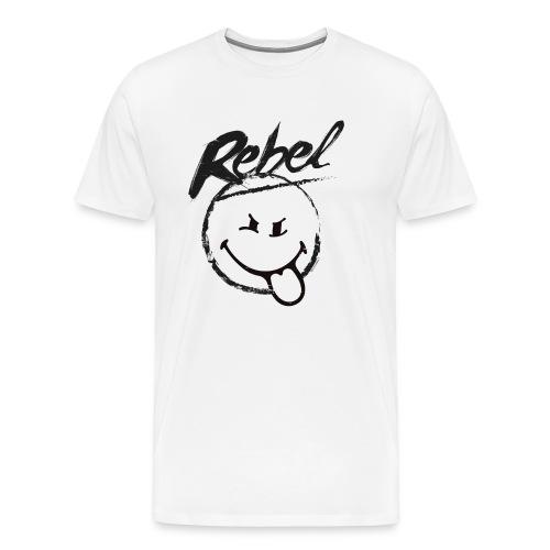 SmileyWorld Rebel Rebellischer Smiley - Männer Premium T-Shirt