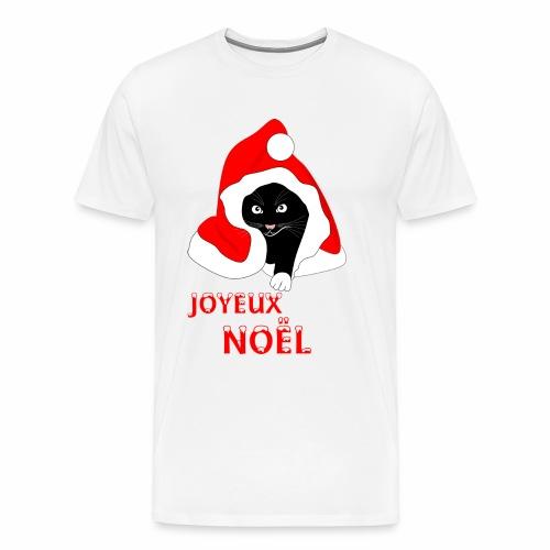 Joyeux Noël - Chat noir - Men's Premium T-Shirt