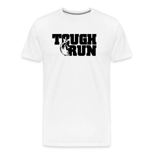 TOUGRUN Logo weiß - Männer Premium T-Shirt