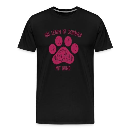 Vorschau: Leben mit Hund - Männer Premium T-Shirt