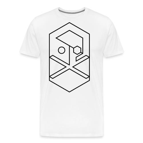 crossbones outline B png - Men's Premium T-Shirt